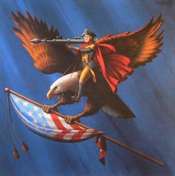 George Washington eagle flag bazooka